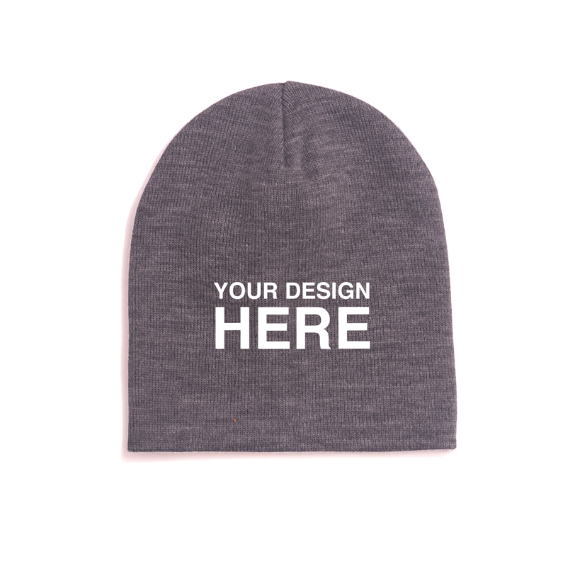 grey-beanie-your-design-here